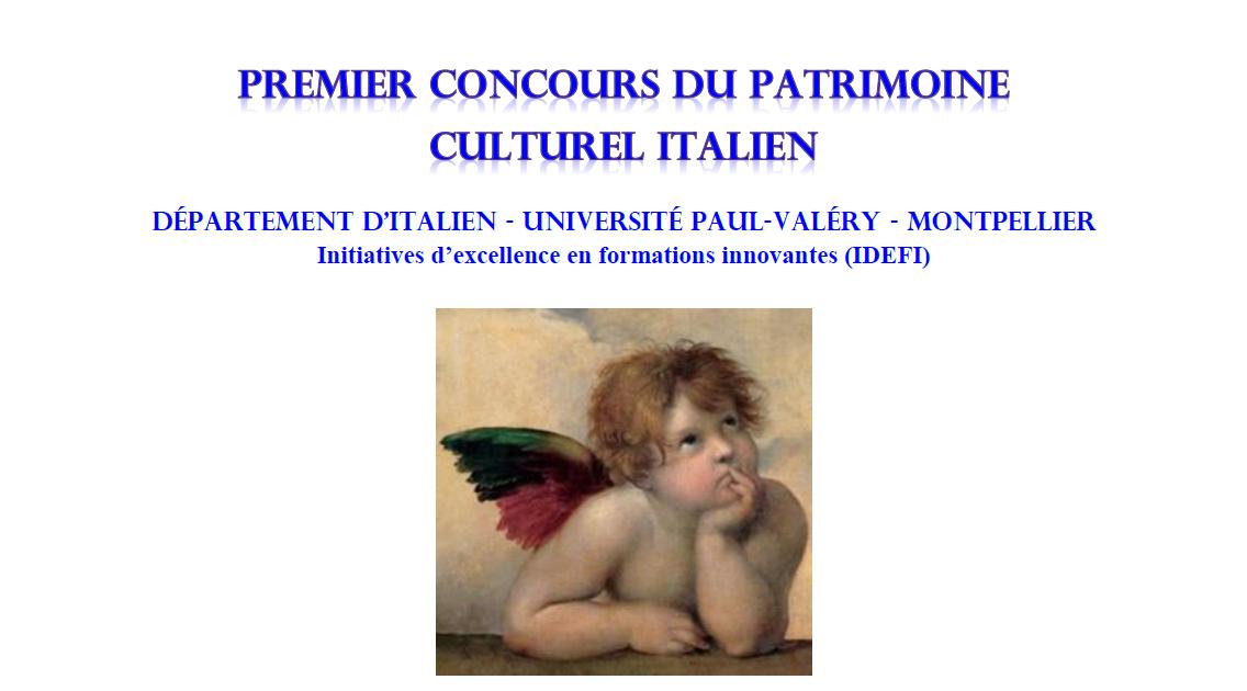 Affiche du concours d'italien