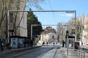 photo de l'arrêt de tram n°1 place Albert 1er
