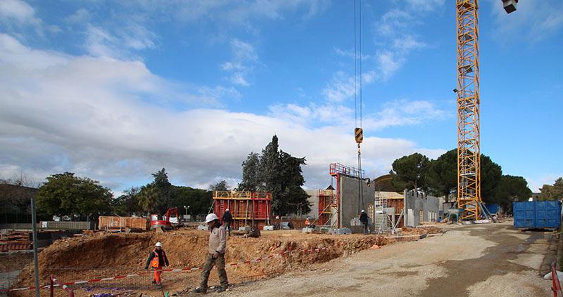 photo chantier bâtiment des moyens généraux