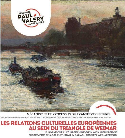 """affiche COLLOQUE """"LES RELATIONS CULTURELLES EUROPÉENNES AU SEIN DU TRIANGLE DE WEIMAR"""""""