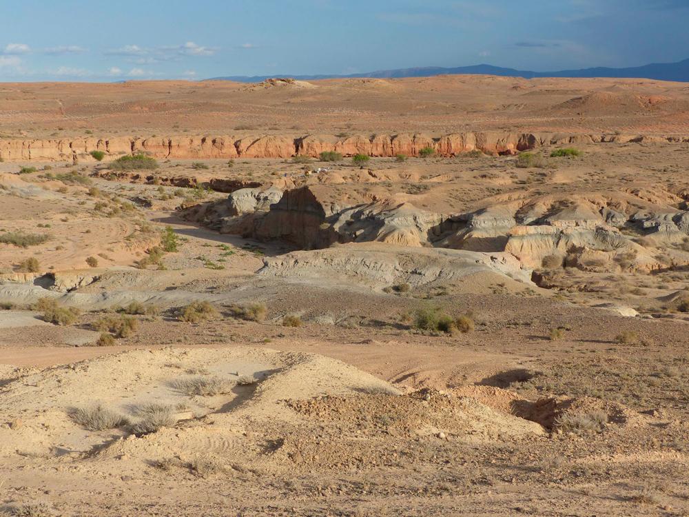 Plaine de Blirh, Basin de Ksabi, Moyenne Moulouya, Maroc oriental (© D. Lefèvre)