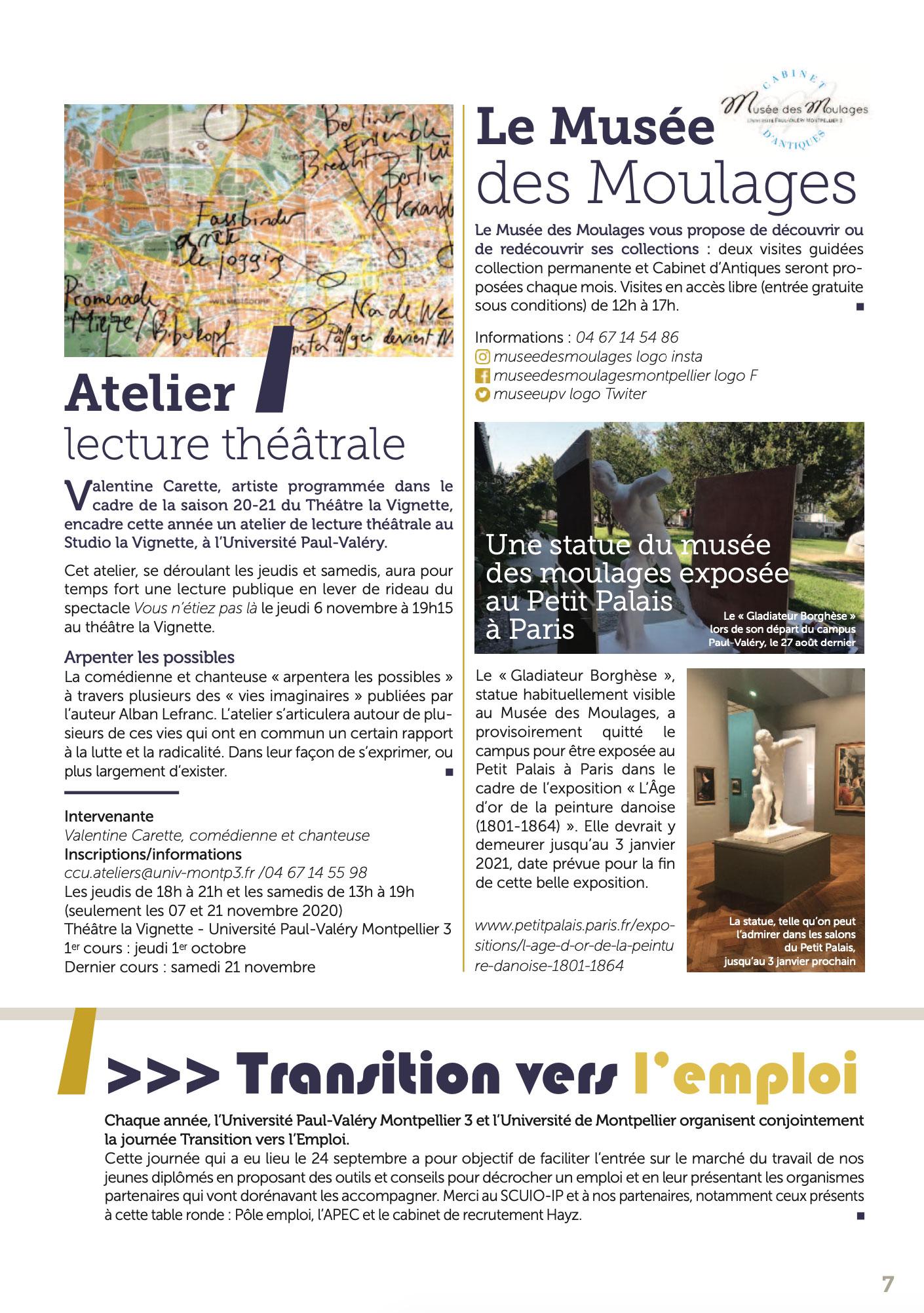 La lettre d'info du Président de l'Université Paul-Valéry Montpellier 3 page 07