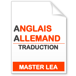 maquette formation master traduction anglais-allemand
