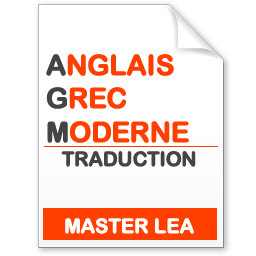 maquette formation master traduction anglais-grec moderne