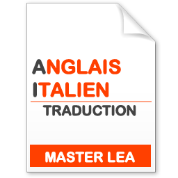 maquette formation master traduction anglais-italien