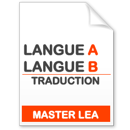 maquette formation master traduction langue A - langue B