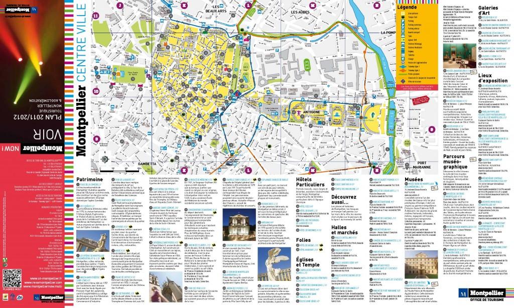 plan centre ville Montpellier