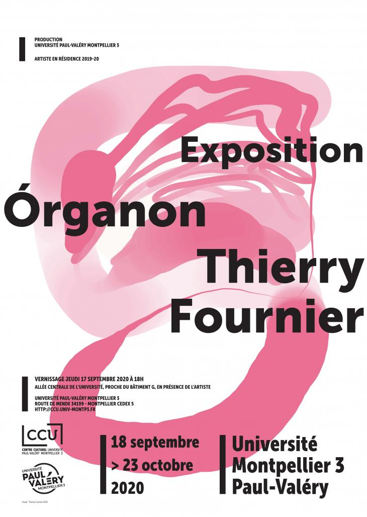 affiche expo Thierry Fournier