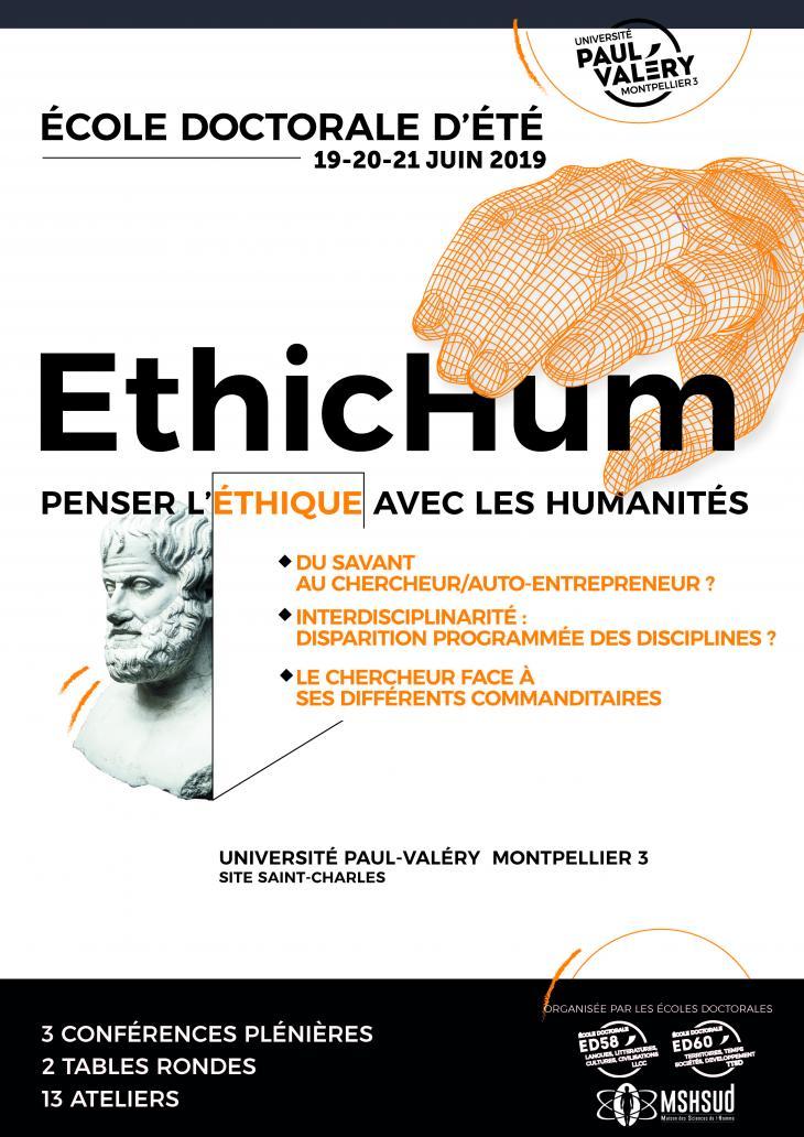 Affiche colloque EthicHum 2019