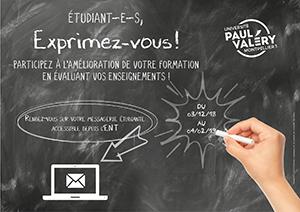 """affiche """"Évaluation des enseignements par les étudiants"""""""