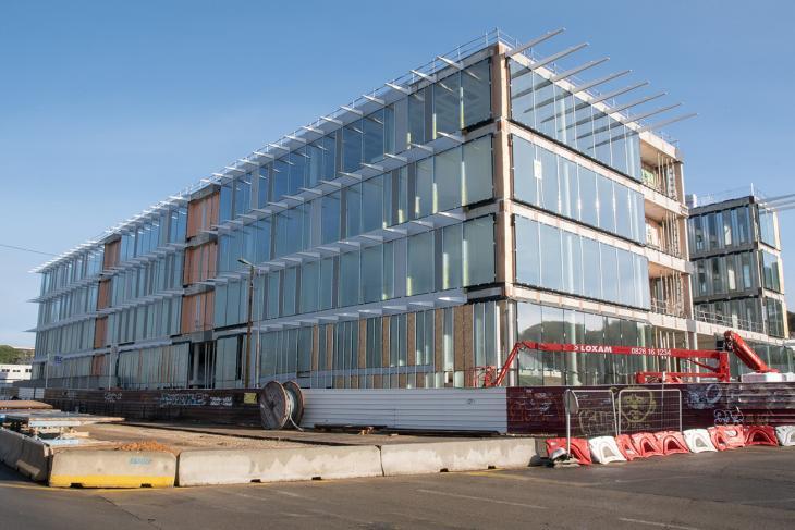 Photographie du bâtiment ATRIUM en février 2021