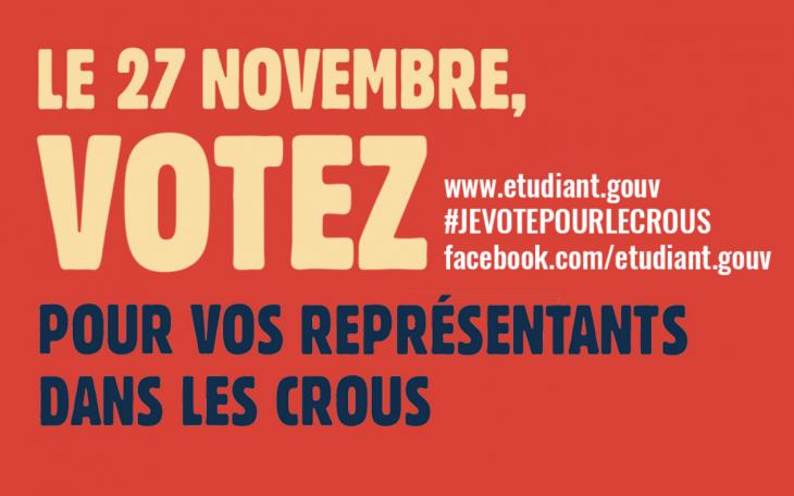 Affiche élection CROUS