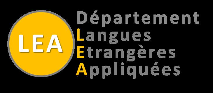 Logo deu déparetment Langues Etrangères Appliquées (LEA),
