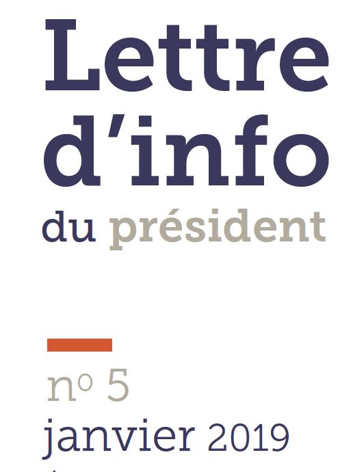 logo lettre d'info du président n5