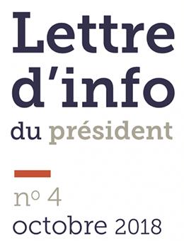 Lettre d'information du Président #4
