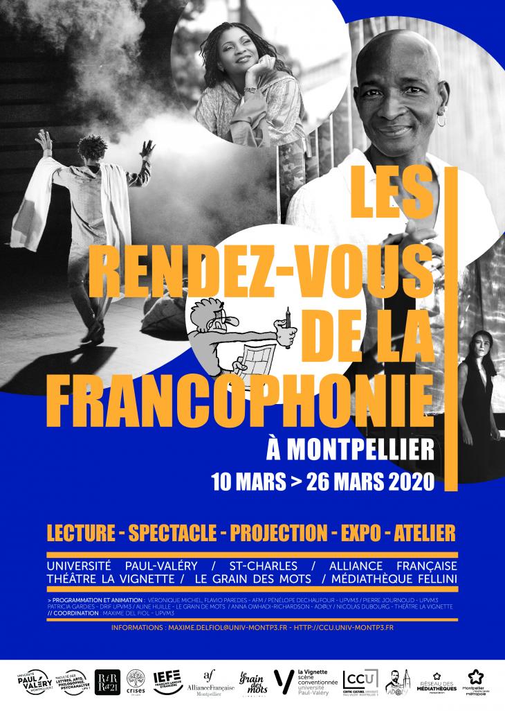 affiche des rendez-vous de la francophonie