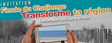 """affiche Finale du challenge """"Transforme ta région"""""""