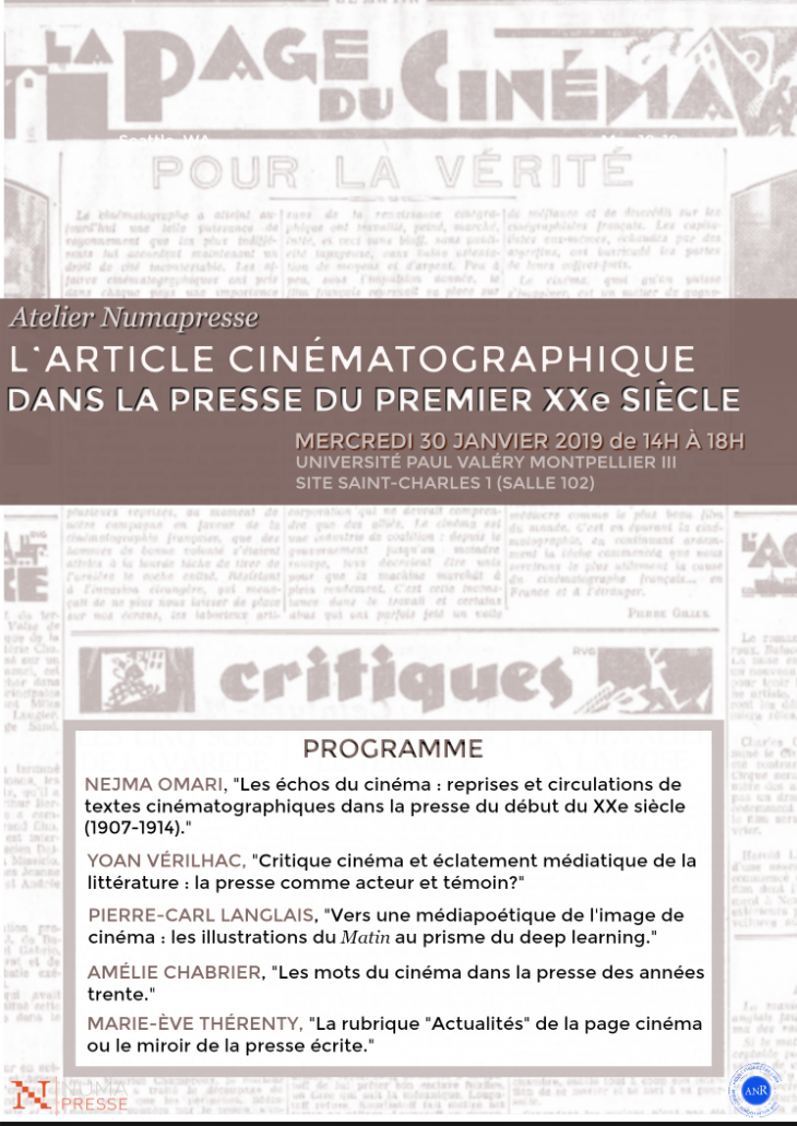 Larticle Cinematographique Dans La Presse Du Premier XXe Siecle