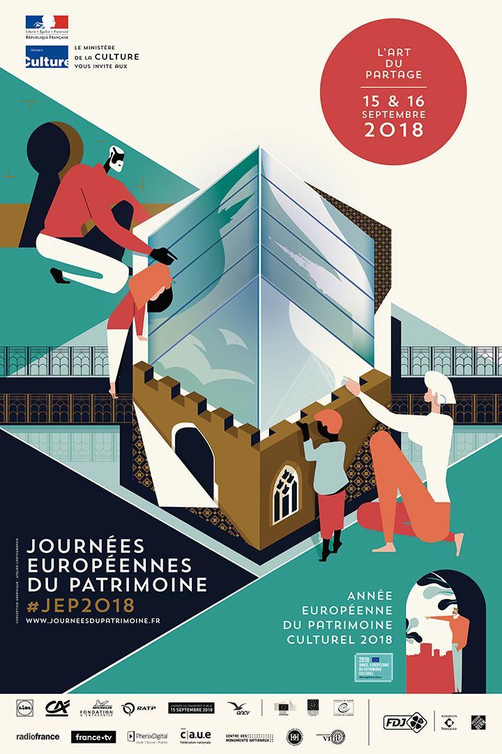 affiche Journées Européennes du Patrimoine 2018