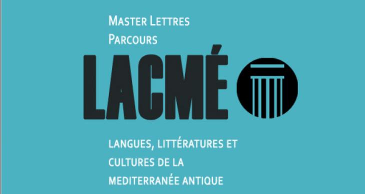 Master Langues, littératures et cultures de la Méditerranée antique (Lacmé)