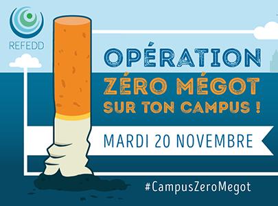 affiche Zéro mégot sur le campus !